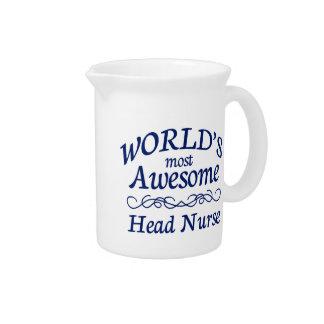 La enfermera principal más impresionante del mundo jarra