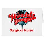 La enfermera quirúrgica más grande del mundo tarjeta