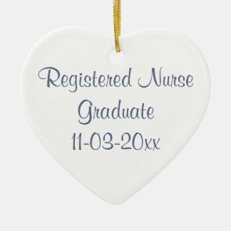 La enfermera registradoa del graduado/personaliza  adorno de reyes