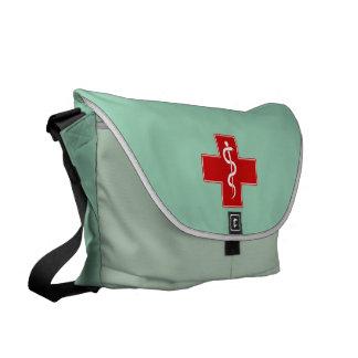 La enfermera Rod de Asclepius friega verde Bolsa De Mensajeria