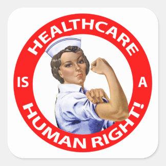 """¡La enfermera """"Rosie"""" dice que la """"atención Calcomanías Cuadradass Personalizadas"""