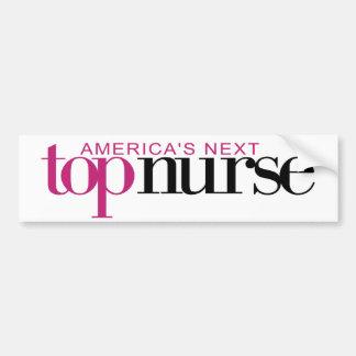 La enfermera superior siguiente de América Pegatina Para Auto