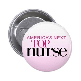 La enfermera superior siguiente de América Pin Redondo De 2 Pulgadas