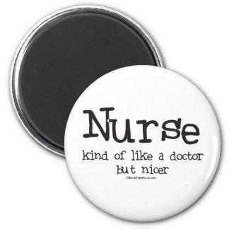 La enfermera un poco tiene gusto de un doctor pero imán redondo 5 cm