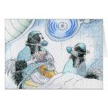 La enfermera y el cirujano felices del día de las  felicitaciones