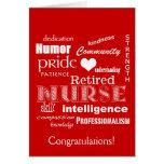 La enhorabuena cuida Retiro-Rojo Felicitación