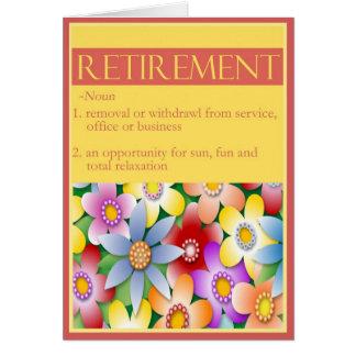 La enhorabuena de la diva en su tarjeta del retiro