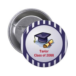 La enhorabuena de la graduación recuerda el pasado pin redondo de 2 pulgadas