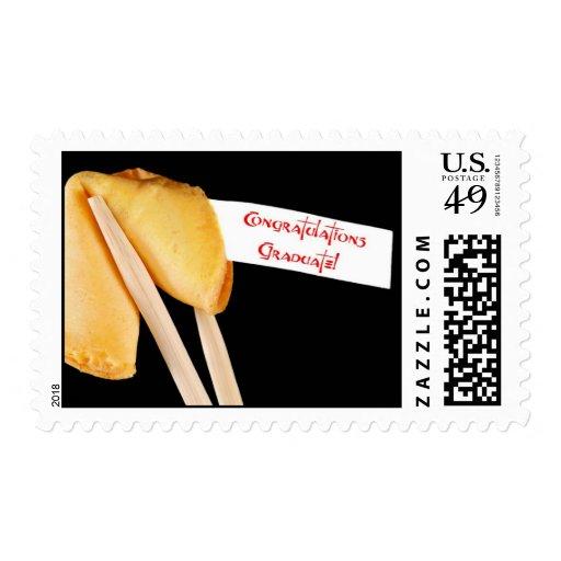 La enhorabuena gradúa franqueo de la galleta de la timbre postal