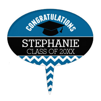 La enhorabuena gradúa - la graduación del negro decoraciones para tartas