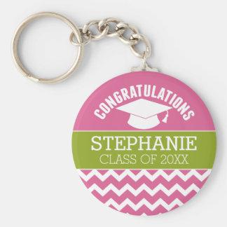 La enhorabuena gradúa - la graduación llavero redondo tipo pin