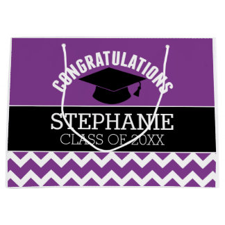 La enhorabuena gradúa - la graduación negra bolsa de regalo grande