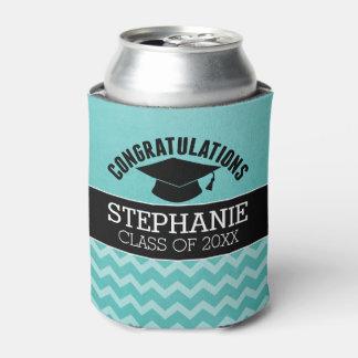 La enhorabuena gradúa - la graduación negra de la enfriador de latas