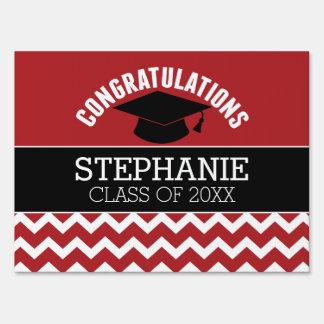 La enhorabuena gradúa - la graduación negra roja