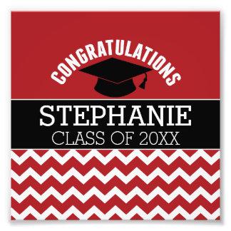 La enhorabuena gradúa - la graduación negra roja cojinete