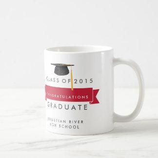 La enhorabuena gradúa la taza de café