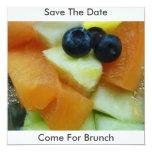 La ensalada de fruta, ahorra la fecha, viene para invitación 13,3 cm x 13,3cm