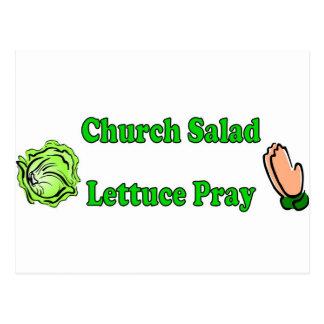 La ensalada de la iglesia, lechuga ruega postal