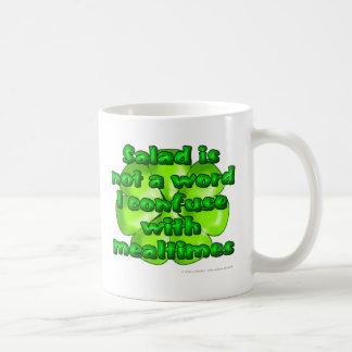 La ensalada no es una palabra que confundo con mea taza de café