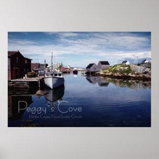 La ensenada de Peggy, Halifax Co., N.S. Póster