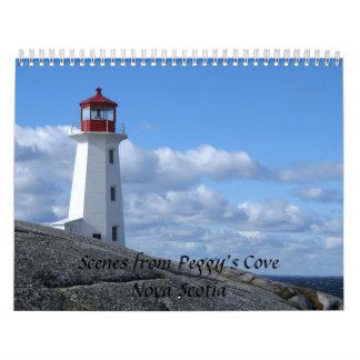 La ensenada de Peggy, Nueva Escocia Calendarios