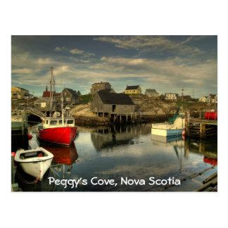 La ensenada de Peggy, Nueva Escocia Tarjeta Postal