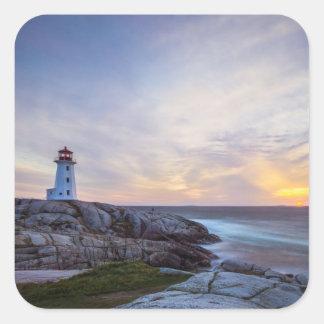 La ensenada el   Nueva Escocia de Peggy Pegatina Cuadrada