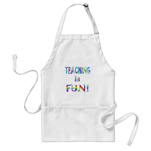 La enseñanza es diversión delantal