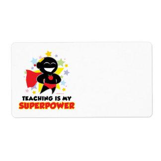 La enseñanza es mi superpotencia etiqueta de envío