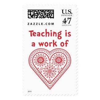 La enseñanza es un trabajo del corazón - el día de sellos