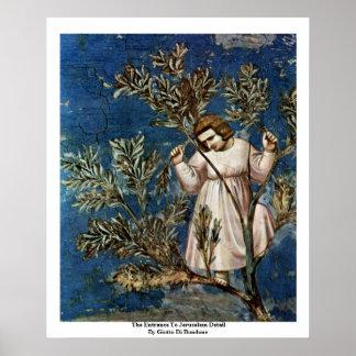 La entrada a Jerusalén de Giotto Di Bondone Posters
