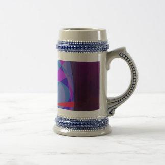 La entrada a las maderas púrpuras tazas de café