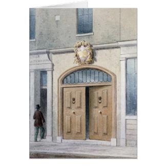 La entrada a los carroceros Pasillo, 1854 Tarjeta De Felicitación