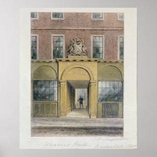 La entrada a los tejedores Pasillo, 1854 Póster