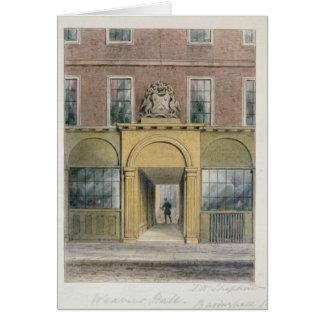 La entrada a los tejedores Pasillo, 1854 Tarjeta De Felicitación