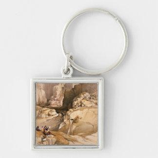 La entrada al Petra, el 10 de marzo de 1839, plate Llavero Cuadrado Plateado