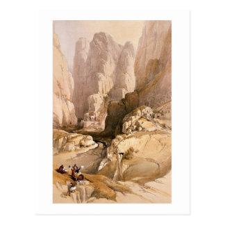 La entrada al Petra, el 10 de marzo de 1839, plate Tarjeta Postal
