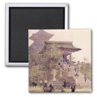 La entrada al templo de Kiyomizu-Dera, Kyoto Imán Cuadrado