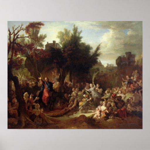 La entrada de Cristo en Jerusalén, c.1720 Póster