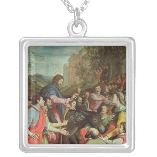 La entrada de Cristo en Jerusalén Colgante Cuadrado