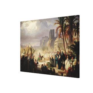 La entrada de Cristo en Jerusalén Lona Envuelta Para Galerias