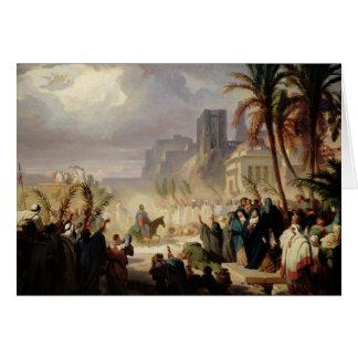 La entrada de Cristo en Jerusalén Tarjetón