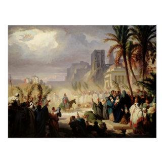 La entrada de Cristo en Jerusalén Postal