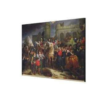 La entrada de Enrique IV en París Lienzo Envuelto Para Galerías