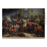 La entrada de Enrique IV en París Tarjeton