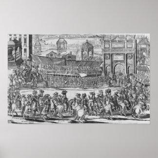 La entrada de Louis XIV y de Marie-Teresa Póster