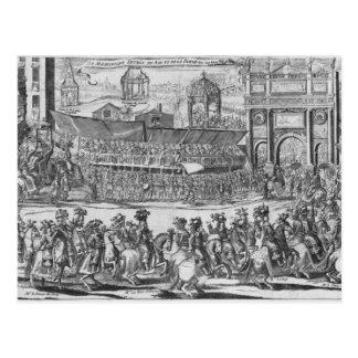 La entrada de Louis XIV y de Marie-Teresa Tarjetas Postales