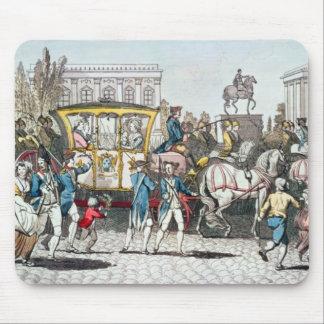 La entrada de Louis XVI en París Alfombrillas De Ratón