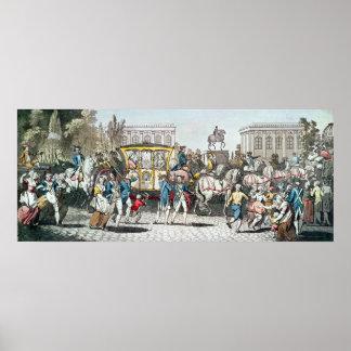 La entrada de Louis XVI en París Posters