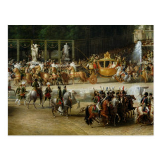 La entrada de Napoleon y de Marie-Louise Postales